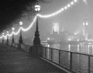 River Thames by Night by Shener Hathaway