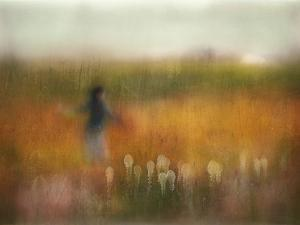 A Girl and Bear Grass by Shenshen Dou