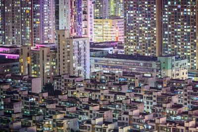 Shenzhen, China City Skyline at Twilight.-SeanPavonePhoto-Photographic Print