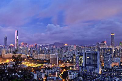 Shenzhen Skyline Panorama-jalvaran-Photographic Print
