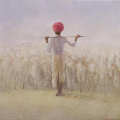 Shepherd and Flock-Lincoln Seligman-Giclee Print