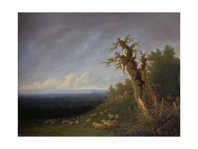 Shepherd Boy on a Hillside-J^ M^ W^ Turner-Giclee Print