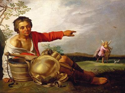 Shepherd Boy Pointing at Tobias and the Angel, C.1625-30-Abraham Bloemaert-Giclee Print