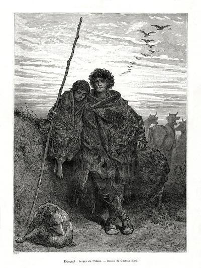 Shepherd of Alava, Spain, 1886-Gustave Dor?-Giclee Print