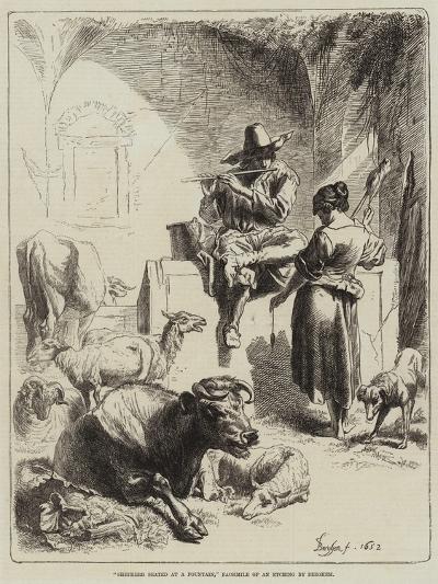 Shepherd Seated at a Fountain-Benjamin Herring-Giclee Print