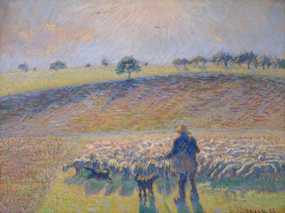 Shepherd with Sheep (Berger Avec Moutons), 1888-Canaletto-Giclee Print