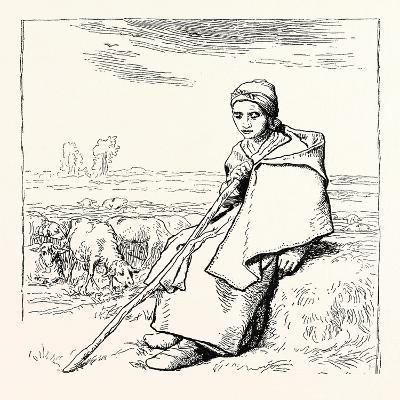 Shepherding, La Bergere, Shepherd--Giclee Print