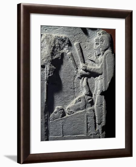 Shepherds and their Animals--Framed Giclee Print