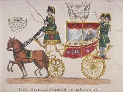 Sheriff in His State Carriage During the Lord Mayor's Procession, 1824--Giclee Print