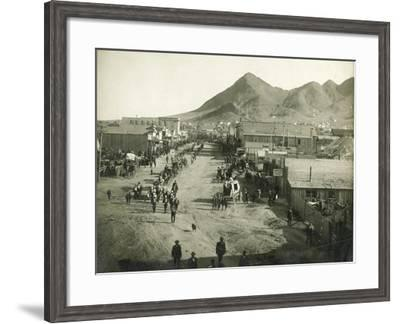 Sheriff's Funeral Procession-H.T. Shaw-Framed Art Print