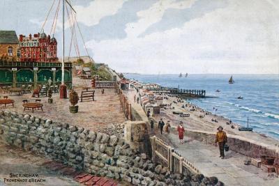 Sheringham, Promenade and Beach-Alfred Robert Quinton-Giclee Print