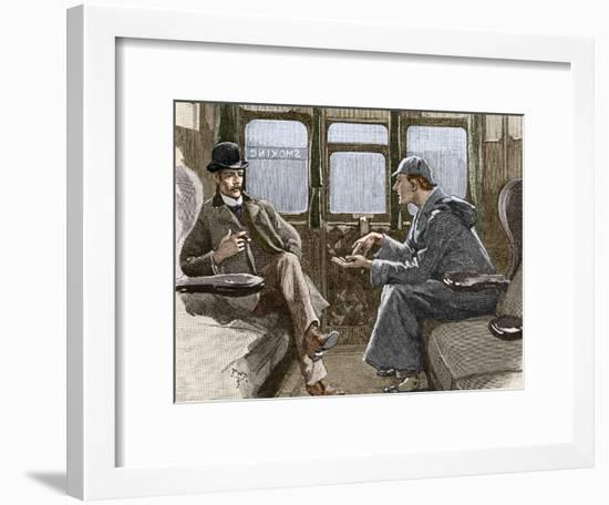 Sherlock Holmes And Dr. Watson-Sheila Terry-Framed Photographic Print