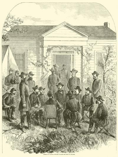 Sherman in Council Decides to Raise the Siege of Atlanta, July 1864--Giclee Print