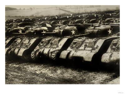 Sherman Tanks--Art Print