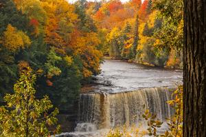 USA, Michigan, Paradise, Tahquamenon Falls State Park, Upper Falls by Sherry Zurey