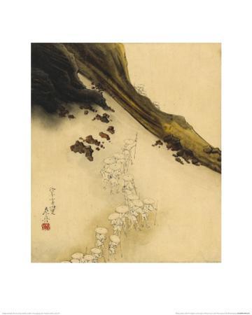 Pilgrims on the Slopes of Mount Fuji by Shibata Zeshin