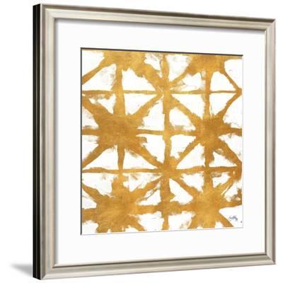 Shibori Gold Square IV-Elizabeth Medley-Framed Art Print