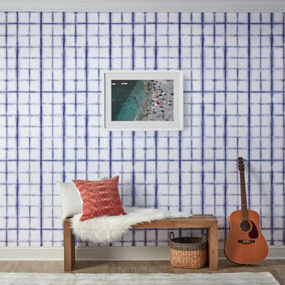 Shibori Indigo Self-Adhesive Wallpaper
