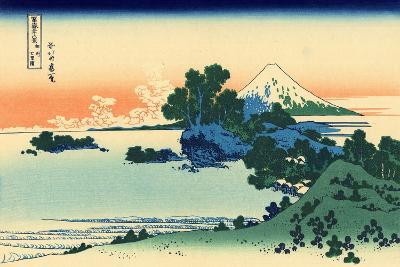 Shichiri Beach in Sagami Province, c.1830-Katsushika Hokusai-Giclee Print