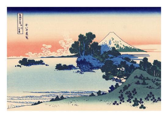 Shichiri Beach in Sagami-Katsushika Hokusai-Premium Giclee Print