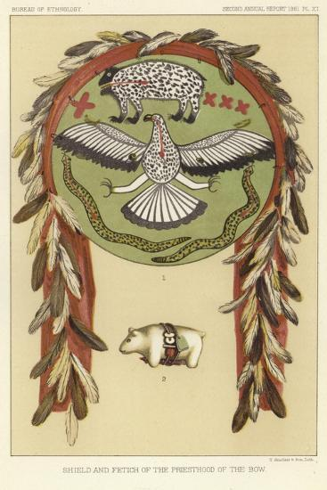 Shield and Fetich of the Priesthood of the Bow--Giclee Print