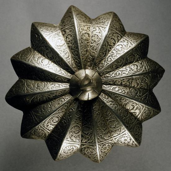 Shield Boss in Steel Decorated with Engravings, Made in Veneto Region in Mid-16th Century, Italy--Giclee Print