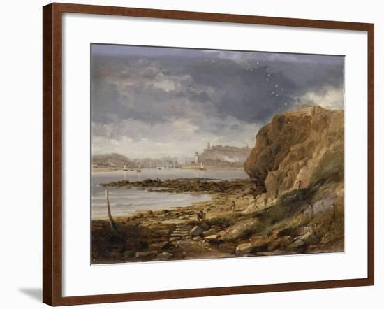 Shields from the Harbour Mouth, 1845-John Wilson Carmichael-Framed Giclee Print