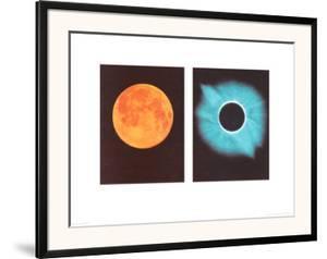Full Moon/Total Solar Eclipse, July 11, 1991 by Shigemi Numazawa