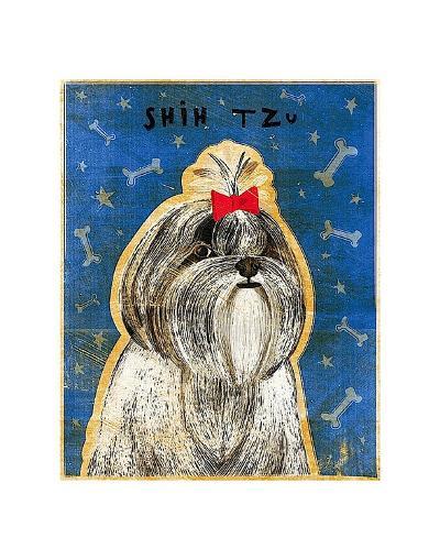 Shih Tzu-John W^ Golden-Art Print