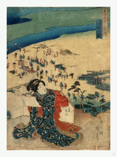 Shimada No Zu-Utagawa Toyokuni-Giclee Print