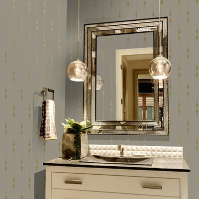 Shimmer Taupe & Metallic Gold Leaf Self-Adhesive, Removable Wallpaper Home Decor