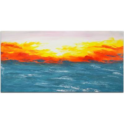 Shimmering Sunrise--Hand Painted Art