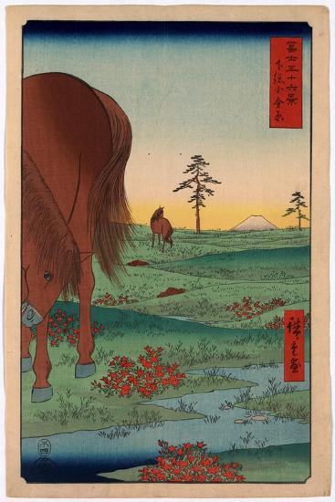Shimosa Koganehara-Utagawa Hiroshige-Giclee Print