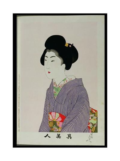 Shin Bijin (True Beauties) Depicting a Seated Woman, from a Series of 36, Modelled on an Earlier…-Toyohara Chikanobu-Giclee Print
