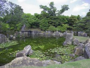 Japanese Garden of Nijo Castle, Kyoto, Japan by Shin Terada