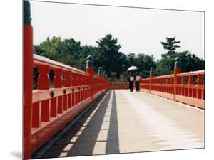Kimono on the Bridge, Kyoto, Japan by Shin Terada