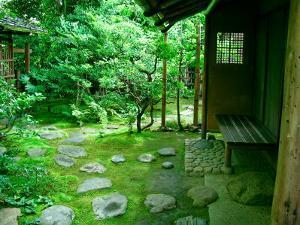 Zen Garden, Kyoto, Japan by Shin Terada