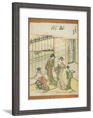 Shinagawa, from the Series Fifty-Three Stations of the Tokaido (Tokaido Gojusan Tsugi), C.1806-Katsushika Hokusai-Framed Giclee Print