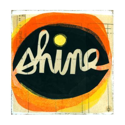 Shine Lettering in Orange Circle