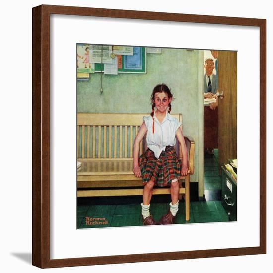 """""""Shiner"""" or """"Outside the Principal's Office"""", May 23,1953-Norman Rockwell-Framed Premium Giclee Print"""