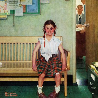 """Shiner"" or ""Outside the Principal's Office"", May 23,1953-Norman Rockwell-Giclee Print"