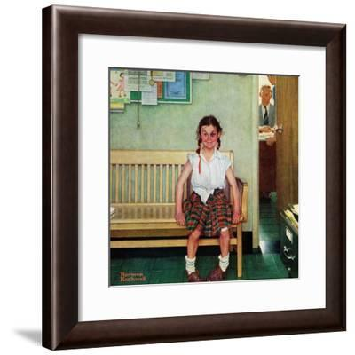 """""""Shiner"""" or """"Outside the Principal's Office"""", May 23,1953-Norman Rockwell-Framed Giclee Print"""