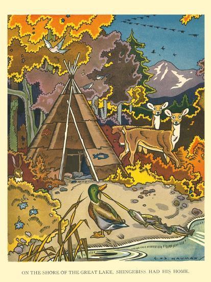 Shingebiss' Home- Hauman-Art Print