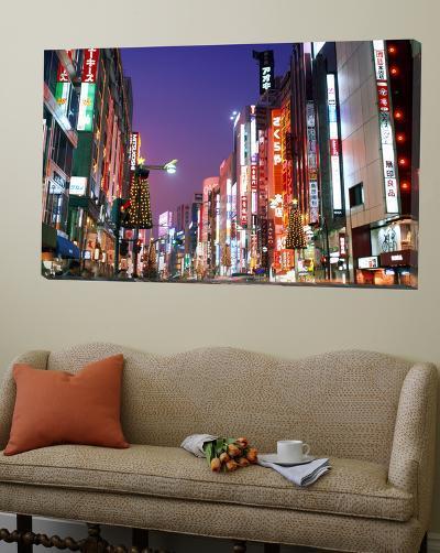 Shinjuku, Shinjuku-dori, Nightlights, Tokyo, Honshu, Japan-Steve Vidler-Loft Art