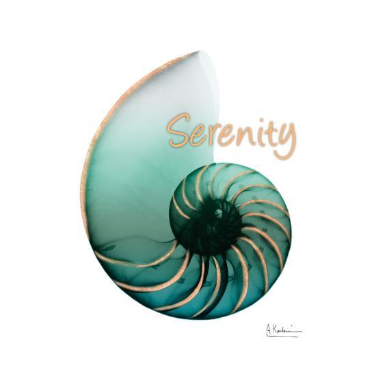 Shinny Serenity Snail 1-Albert Koetsier-Art Print