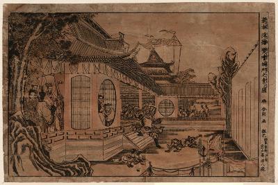 Shinpan Ukie Hankai Komon No Zu-Katsushika Hokusai-Giclee Print