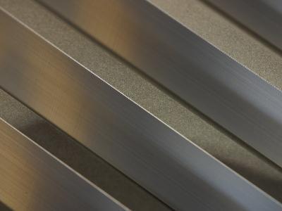 Shiny Corrugated Metal--Photographic Print