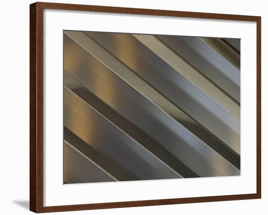 Shiny Corrugated Metal--Framed Photographic Print
