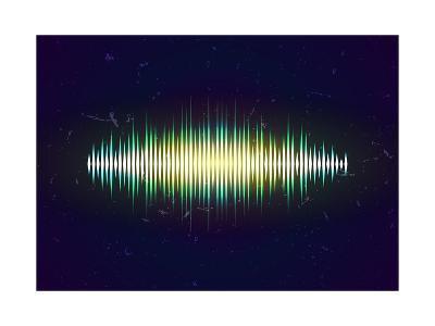 Shiny Sound Waveform-Swill Klitch-Art Print