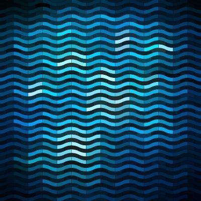 Shiny Wavy Banner-oliopi-Art Print